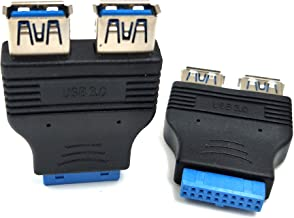 ZRM/&E 2-Pack USB 3.0 to USB 2.0 Adapter Cable Computer Cable Connectors Motherboard Cable 20Pin Male to 9Pin Female