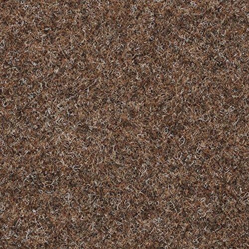 BODENMEISTER BM73501 Teppichboden Nadelfilz Nadelvlies Meterware Objekt braun beige 200 cm und 400 cm breit, verschiedene Längen, Variante: 7 x 2 m