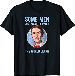 Bill Nye The Science Guy Watch The World Learn T-Shirt