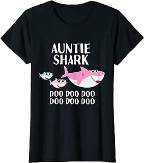 Womens Auntie Shark Doo Doo Aunty Aunt Niece Christmas Gifts T-Shirt