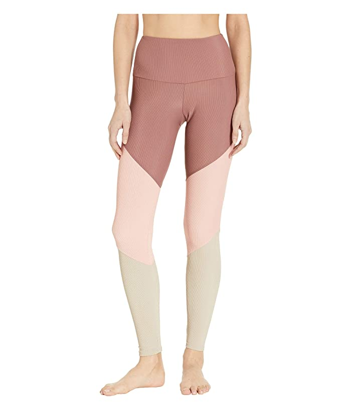 Onzie High-Rise Track Leggings (Toast Rib Combo) Women