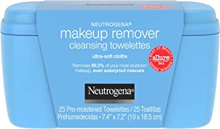 Neutrogena Makeup Remover Facial Cleansing Towelettes, Daily Face Wipes to Remove Dirt, Oil, Makeup & Waterproof Mascara, ...