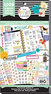 me & my BIG ideas PPSV-113-3048 The Happy Sticker Value Pack-Planner Essentials, 1009/Pkg, Multi