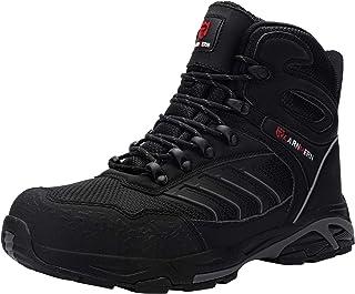 LARNMERN Zapatos de Seguridad Hombre, Sra Antideslizante Anti Estático Zapatos de Trabajo S1P Zapatos Seguridad