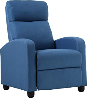 Recliner Chair for Living Room Recliner Sofa Reading Chair Winback Chair Single Sofa Home Theater Seating Modern Reclining Easy Lounge with Fabric Padded Seat Backrest