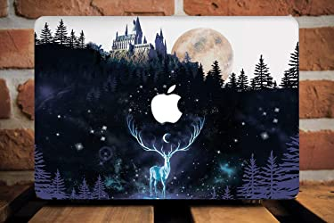 Harry Potter Macbook Pro Air Case With Printed Bottom Hard Hogwarts Castle House Always Deer Expecto Patronum Deathly Hallows Air 13 inch 12 11 Pro 13 15 Mac Book 12 Retina Apple Accessories AW2215
