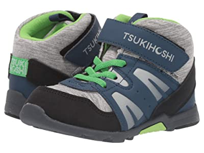 Tsukihoshi Kids Hike (Toddler/Little Kid) (Navy/Green) Boys Shoes