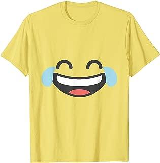 Emoji Halloween Costume Laughing With Tears of Joy Emoji T-Shirt