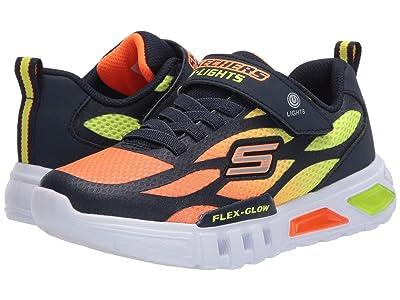 SKECHERS KIDS Sport Lighted Flex-Glow 400016L (Little Kid/Big Kid) (Navy/Orange) Boy