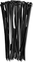 12 Inch Zip Cable Ties (100 Pack), 120lbs Tensile Strength - Heavy Duty Black, Self-Locking Premium Plastic Cable Wire Tie...