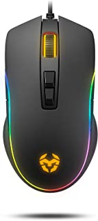 Raton gaming Krom KANE - NXKROMKANE - Mouse Gaming Avanzado, Sensor Optico AVAGO A3050, RGB 4000 DPI, 8 botones programabl...