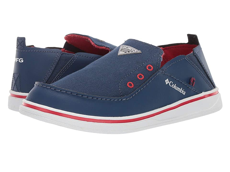 Columbia Kids Bahamatm PFG (Toddler/Little Kid/Big Kid) (Carbon/Intense Red) Boys Shoes