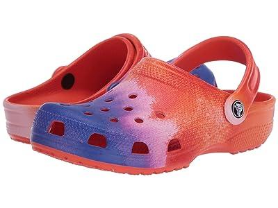 Crocs Classic Vacay Vibes Clog (Multi/Tangerine) Clog Shoes