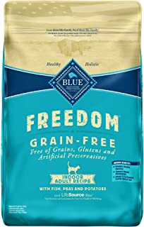 Blue Buffalo Freedom Grain Free Natural Indoor Adult Dry Cat Food, Fish