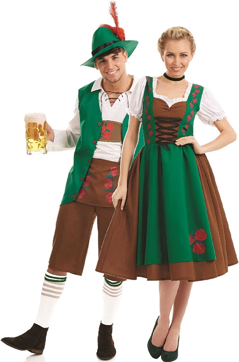 Couples Ladies AND Mens Traditional Bavarian German Oktoberfest Beer Festival Carnival Stag Hen Do Night Fancy Dress Costumes Outfits (UK 810  Mens Large)
