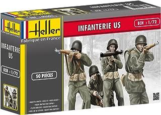 Heller US Infantry Model Kit (Set of 50) (1/72 Scale)