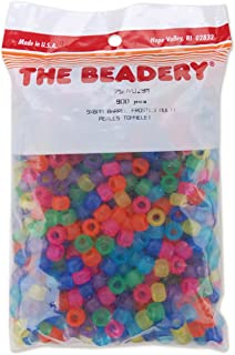 (Frosted Multicolor) - The Beadery 750V-029M Pony Beads 6x9mm 900/Pkg