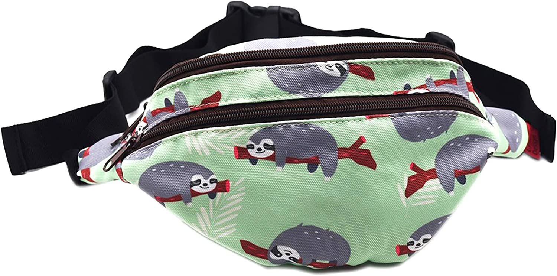 Sloth Gifts Bag Pack Hip Pouch Canvas Luxury Belt Waist Bum Milwaukee Mall