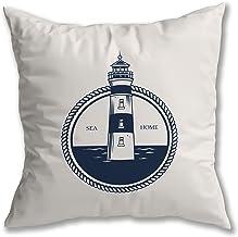 Capa de Almofada em Suede Nautica Farol