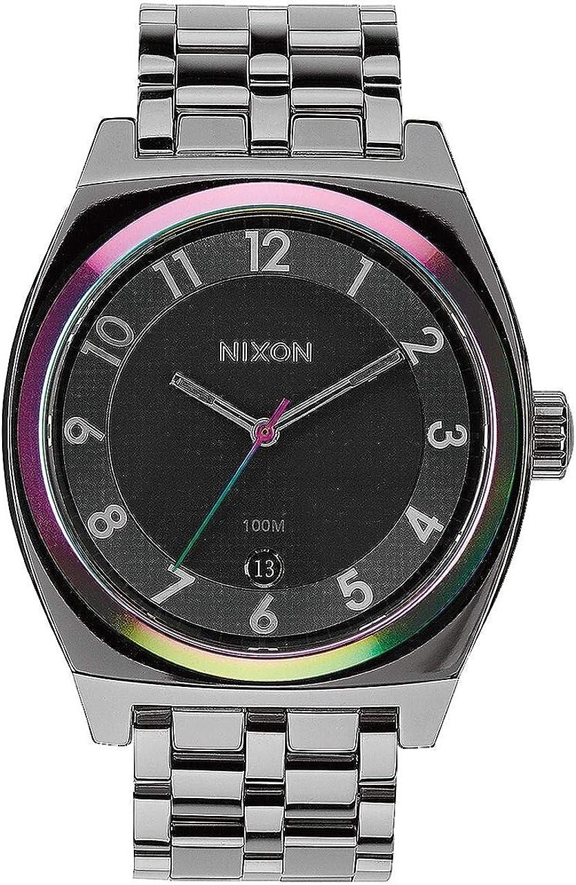 NIXON Reloj Analógico para Hombre de Cuarzo con Correa en Acero Inoxidable A325-1698-00