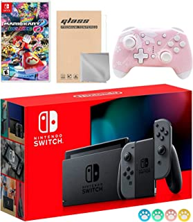 Nintendo Switch Gray Joy-Con Console Set, Bundle With Mario Kart 8 Deluxe And Mytrix Wireless Switch Pro Controller and Ac...