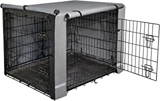 """yotache Dog Crate Cover for 42"""" Large Double Door Wire Dog Cage, Lightweight 600D Polyester Indoor/Outdoor Durable Waterpr..."""