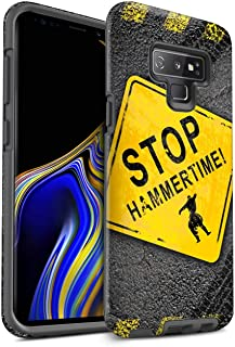Matte Phone Case for Samsung Galaxy Note 9/N960 Funny Road Signs Stop/Hammer Time Design Matt Tough Shock Proof Bumper Cover
