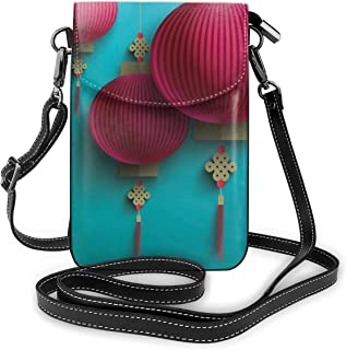 Jiger Women Small Cell Phone Purse Crossbody,Chuseok Chinese New Year Traditional Celebration Asian Mid Autumn Festival
