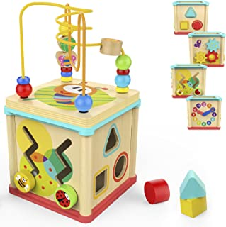 TOP BRIGHT Activity Cube Toys Baby Educational Wooden...