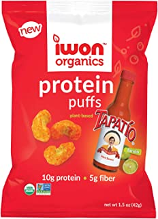 IWON Organics Tapatio Limon Flavor Protein Puff, High Protein and Organic, 8 Bags