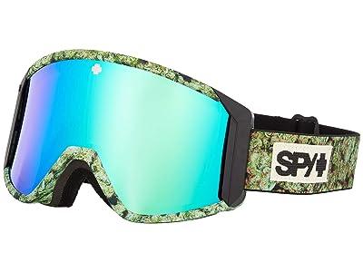 Spy Optic Raider (Kush Hd Bronze w/ Green Spectra Mirror + Hd Ll Persimmon) Snow Goggles