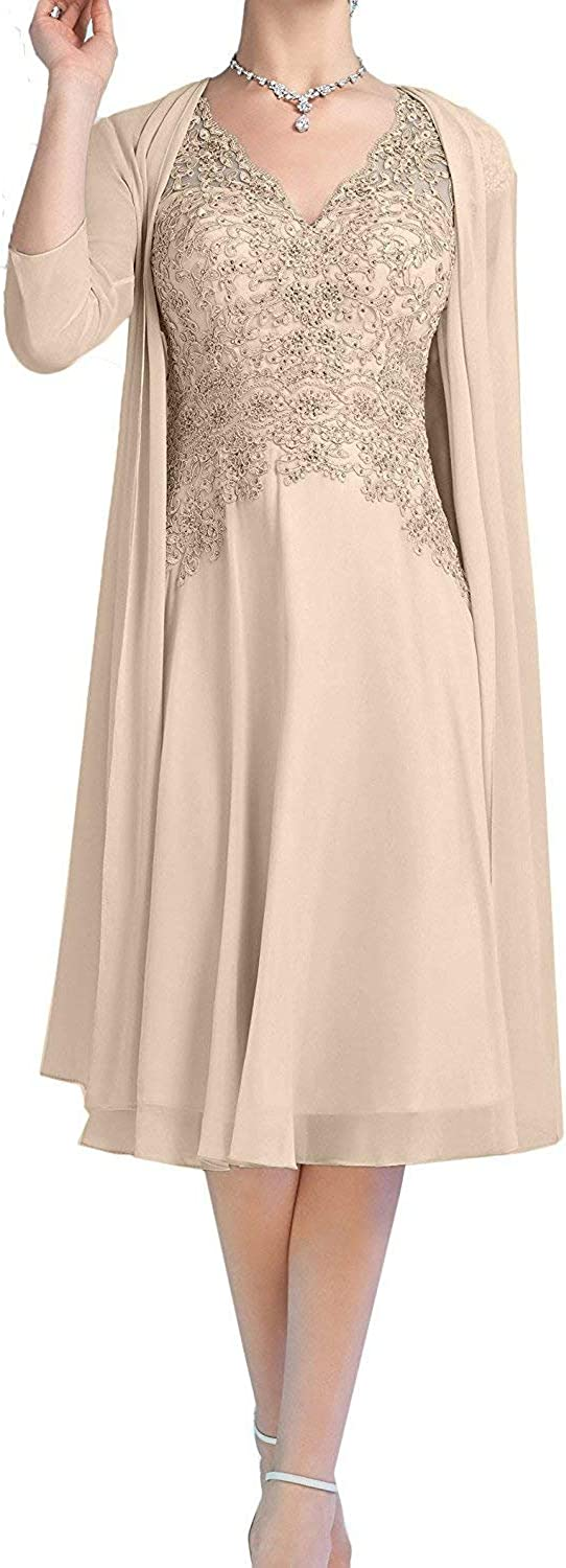 The Peachess Mother Of The Bride Dresses Tea Length Two Pieces With Jacket