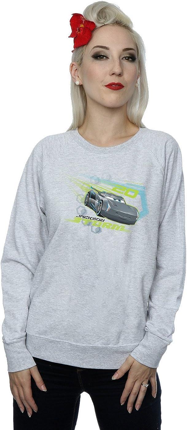 Disney Women's Cars Jackson Storm Sweatshirt Large Heather Grey