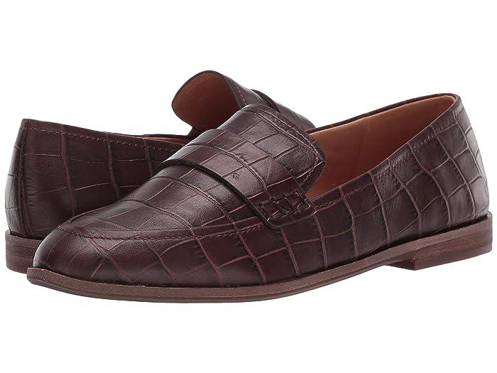 Madewell  Annie Loafer (Dark Coffee Croco) Womens Shoes