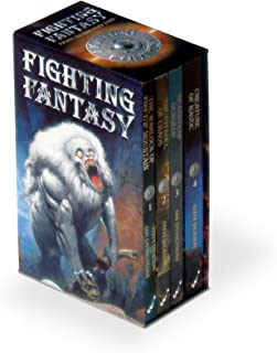 Fighting Fantasy 'Warlock of Firetop Mountain', 'Citadel of Chaos', 'Deathtrap Dungeon', 'Creature of Havoc