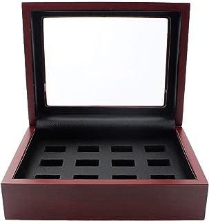 BIGWISH Championship Big Heavy Ring Wooden Display Ring Box(1/2/3/4/5/6/7/9 Holes) (12 Holes)