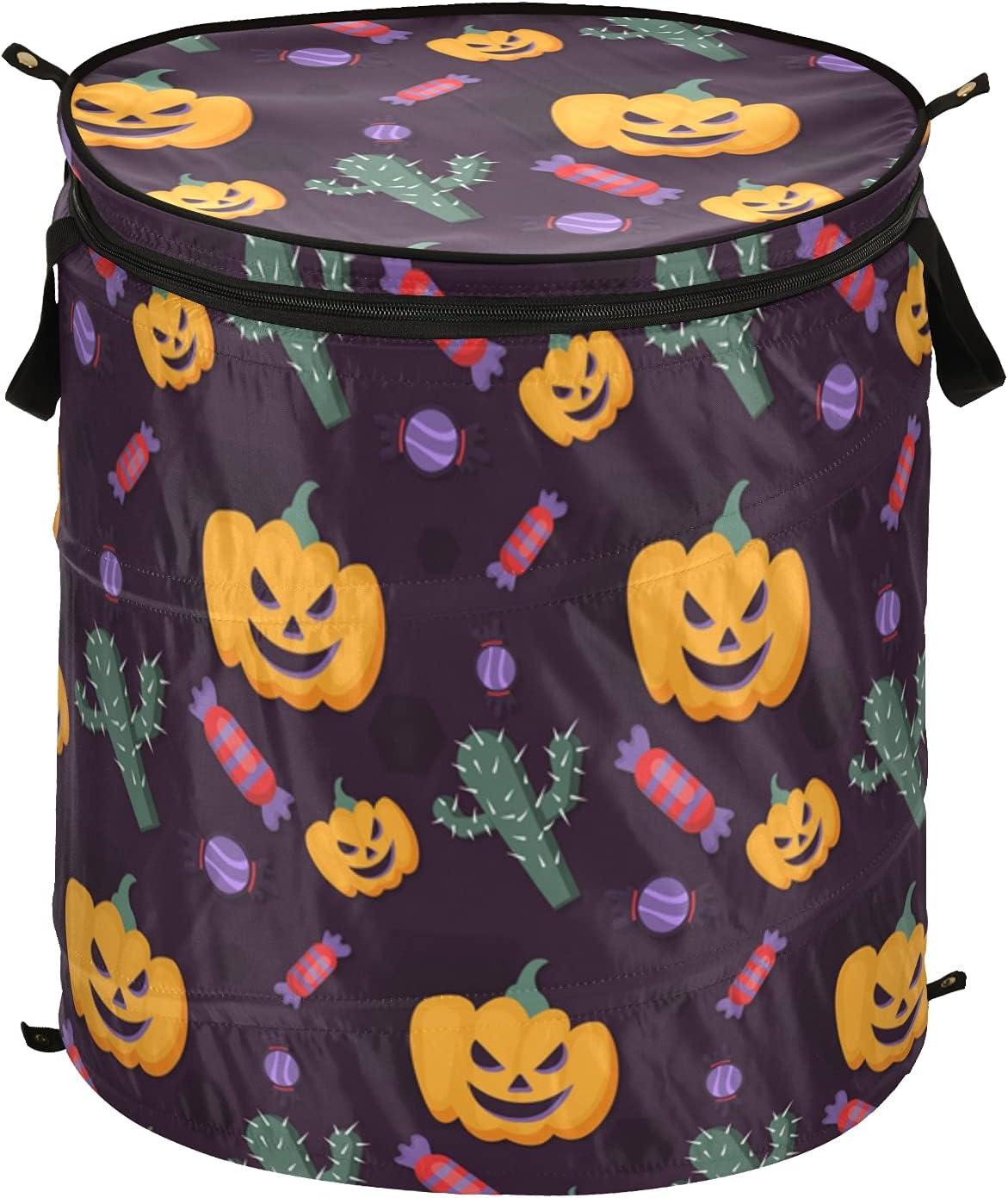 Pumpkins Happy Halloween Soldering Watercolor Pop with Laundry Hamper Up L Max 45% OFF
