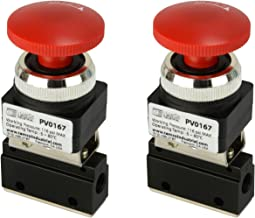 2 Qty Latching Push Button Normally Closed Pneumatic Air Control Valve 2 Port 2 Way 2 Position 1/8