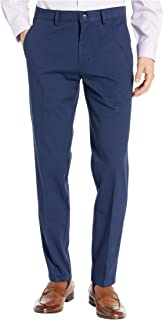 Men's 4-Way Stretch Solid Twill Slim Fit Flat Front Chino