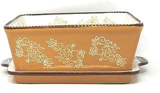 Temp-tations 8x8 Brownie Baker w/Lid-It (Tray) 1.5 Qt Square Casserole Dish (Floral Lace Fall)
