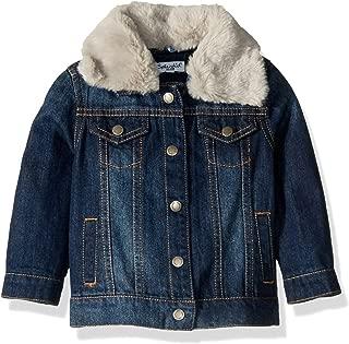 Baby Girls Denim Jacket with Faux Fur Collar