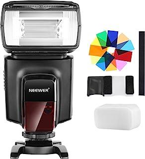Neewer TT560フラッシュスピードライトと12枚カラーフィルターキット Canon Nikon Panasonic Olympusと他のDSLRカメラに対応 ハードディフューザーとマイクロファイバークリーニングクロスに付き