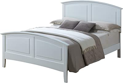 "Glory Furniture Hammond King Size Panel, White Bed Room Furniture, 53"" H x 84"" W x 85"" D,"