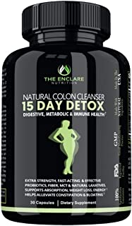 Sponsored Ad - DETOX COLON CLEANSE FOR WEIGHT LOSS. 15 Day Fast-Acting Detox Pills, Extra-Strength with Natural Laxatives,...