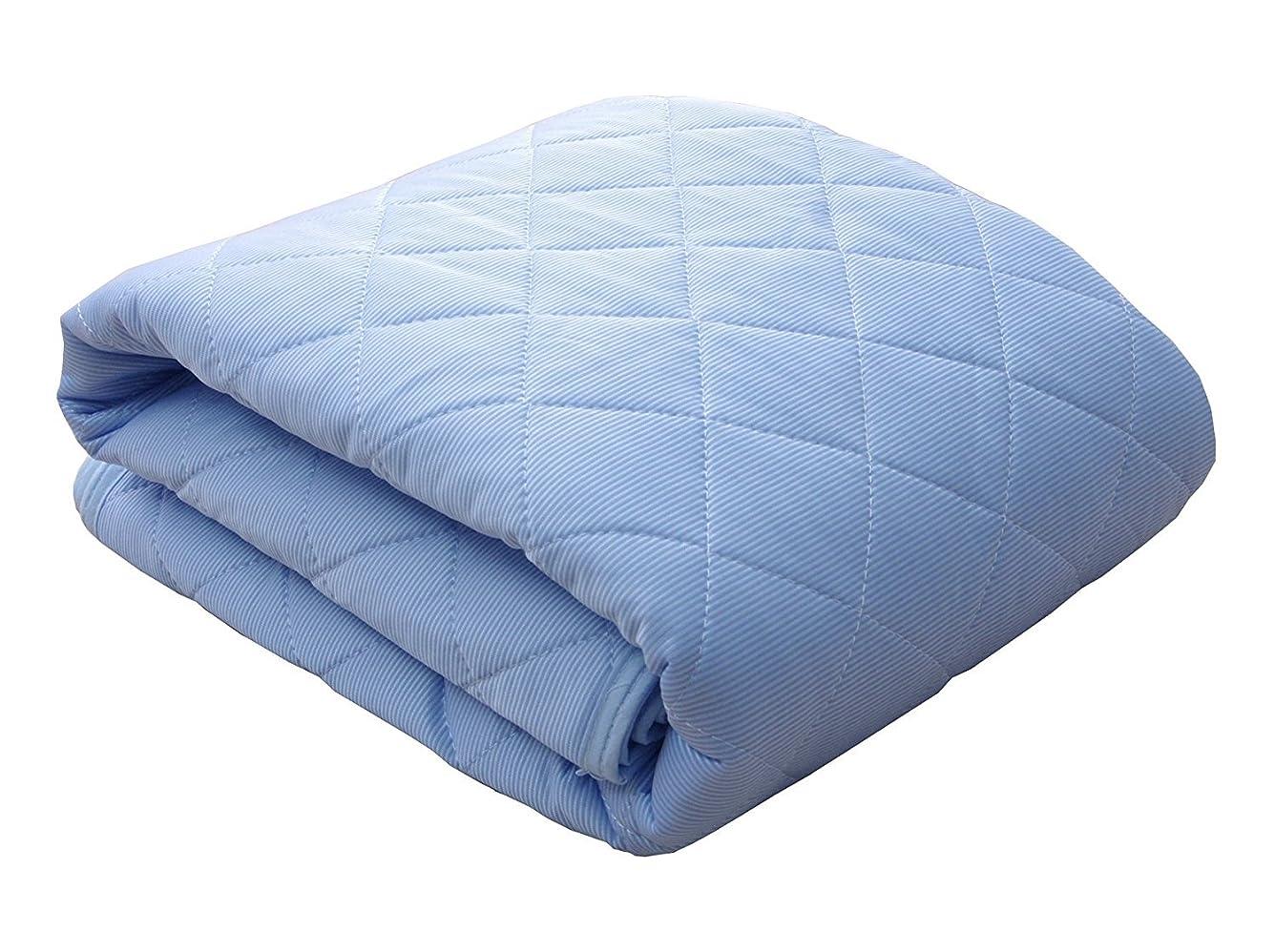 できない火山学者ロッカーダブルサイズ 接触冷感 敷きパッド「 レノ 」【GL】サイズ:140×205cm ブルー(#9810690)