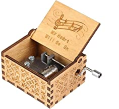 Bigaxi The Titanic Movie Theme Music Box My Heart Will Go On Antique Engraved Hand Crank Wooden Musical Box Toy
