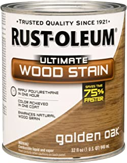 Rust-Oleum 260143 Ultimate Wood Stain, Quart, Golden Oak