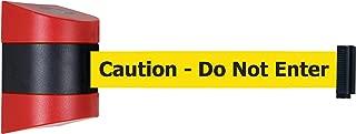 No Custom Yellow Webbing Standard Belt End Standard 7.5 Standard 7.5/' Tensator Tensabarrier 886-33-STD-NO-Y5X-C Heavy Duty Outdoor Post with Black Tube