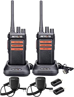 $84 » Sponsored Ad - Retevis RT76 GMRS Two Way Radio Long Range,High Power Clear Sound Outdoor Rugged Walkie Talkies with Speake...