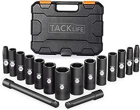 Tacklife 3/8-Inch 16pcs Drive Deep Impact Socket Set,Metric,CR-V Steel,6-point,3